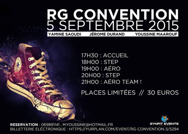 Convention RG Fitness à Oullins