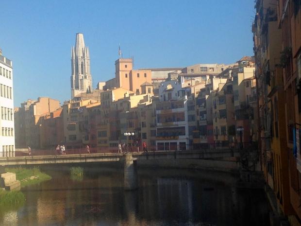 Rives de la ville de Gérone Espagne