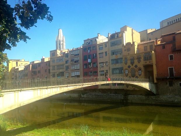 Pont sur l'Onyar à Gérone Espagne