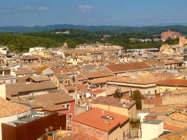 Vue sur la ville de Gérone en Espagne