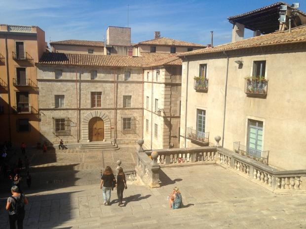 Vue de la cathédrale Santa Maria à Gérone Espagne