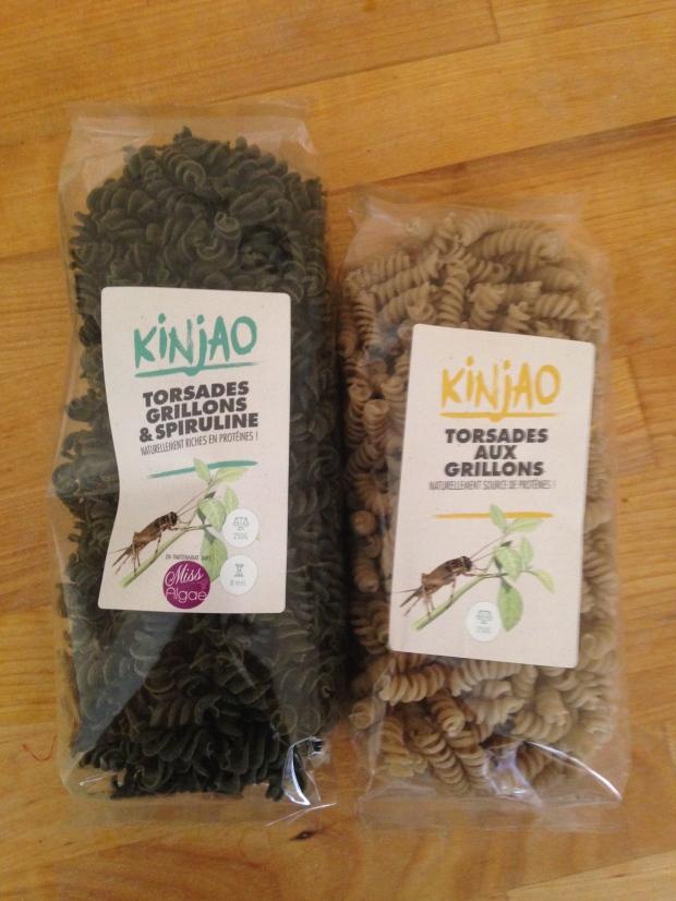 Pâtes aux grillons et à la spiruline Kinjao